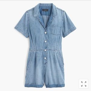 J.Crew Chambray Romper BRAND NEW